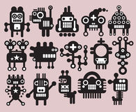 Robotar monster, främlingsamling #9. Arkivbild
