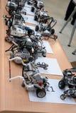 Robotar som göras av Lego kvarter Royaltyfri Bild