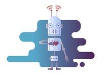 Robotdesignlägenhet royaltyfri illustrationer