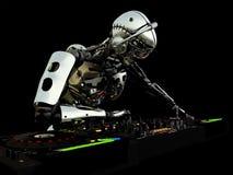 Robotdiscjockey Royaltyfri Fotografi