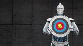 Robotdoel royalty-vrije illustratie