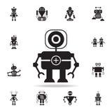 robotdoktorssymbol Detaljerad uppsättning av robotsymboler Högvärdig grafisk design En av samlingssymbolerna för websites, rengör vektor illustrationer