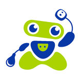 Robotembleem stock illustratie