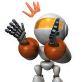 Roboten applåderar och komplimang Det verkar som det förför royaltyfri illustrationer