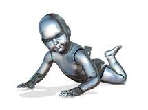 Roboten behandla som ett barn Arkivfoto