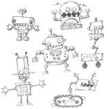 Roboten klottrar isolerat stock illustrationer