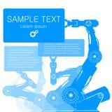 Roboten räcker illustrationen Vektor Illustrationer