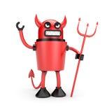 Roboter als Teufel Lizenzfreie Stockfotos