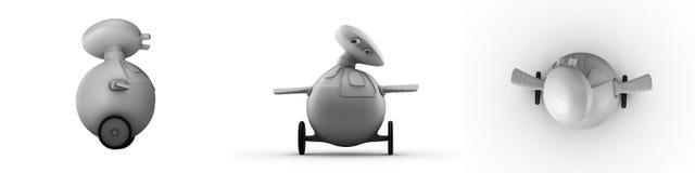 Roboter-Ansichten Lizenzfreies Stockbild