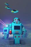 Roboter auf dem Angriff Lizenzfreies Stockbild