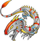 Roboter Cyborg Dragon Vector Stockfotos