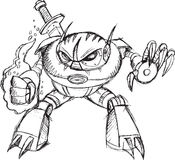 Roboter Cyborg-Krieger Ninja Vector Stockfotos
