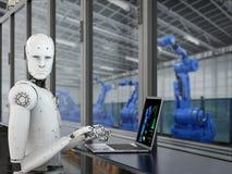 Roboter in der Fabrik Lizenzfreie Stockfotos