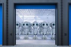 Roboter in der Fabrik lizenzfreie stockbilder