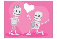 Roboter in der Liebe stock abbildung