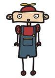 Roboter des kleinen Jungen Stockfoto