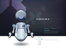 Roboter-Designschablone des Vektors sich hin- und herbewegende Stockbild
