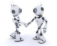 Roboter, die Hände rütteln Stockbilder