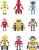 Roboter eingestellt Stockbild