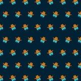 Roboter - emoji Muster 72 vektor abbildung