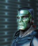 Roboter Frankenstein - künstliche Intelligenz-Drohung Stockfoto