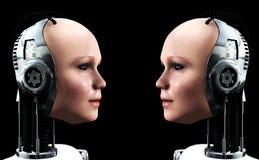 Roboter-Frauen 3 lizenzfreie abbildung