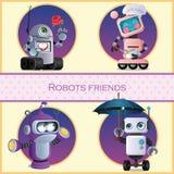 Roboter Freund, Zeichentrickfilm-Figur vier lizenzfreie abbildung