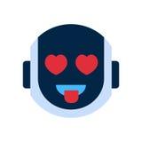 Roboter-Gesichts-Ikonen-lächelndes Gesichts-Gefühl Roboter-Emoji vektor abbildung