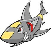 Roboter-Haifisch lizenzfreie abbildung