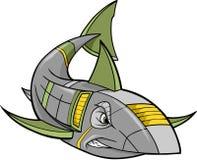 Roboter-Haifisch-Vektor stock abbildung