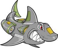 Roboter-Haifisch-Vektor Stockfoto