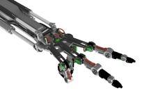 Roboter-Hand, 2 Finger-Geste Stockbilder