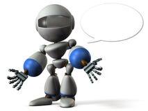 Roboter hat ein schlechtes Gerücht verschüttet stock abbildung