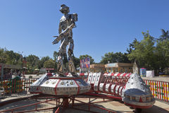 Roboter im Adler-Erholungspark, Sochi, Krasnodar-Region, Russland Lizenzfreies Stockbild