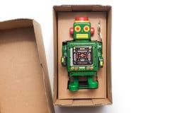 Roboter im Kasten Lizenzfreies Stockfoto