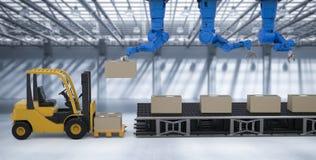Roboter im Lager Stockbild