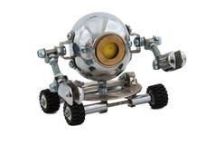 Roboter lokalisiert auf Weiß. Lizenzfreies Stockfoto