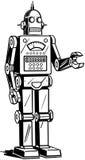 Roboter-Mann stock abbildung