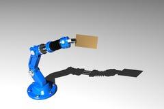 Roboter mit Besuchskarte Lizenzfreie Stockbilder