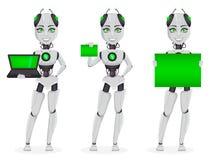Roboter mit künstlicher Intelligenz, weiblicher Bot stock abbildung