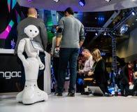 Roboter-Modell auf der Brücke an CES Lizenzfreie Stockfotos