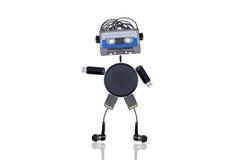 Roboter-Musikfreund lizenzfreie stockbilder