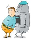 Roboter-Pflege Stockfotografie