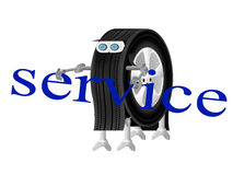 Roboter-Radlogo des Service-Centers Stockfoto