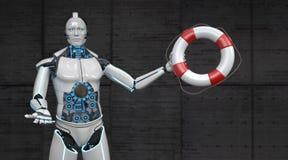 Roboter-Rettungsgürtel stock abbildung