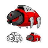 Roboter-Schaben-Zeichentrickfilm-Figur Lizenzfreie Stockbilder