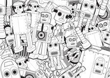 Roboter spielt Hintergrund Stockfoto