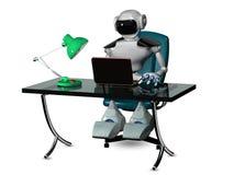Roboter am Tisch Stockbilder