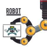 Roboter und Technologiedesign Stockfoto