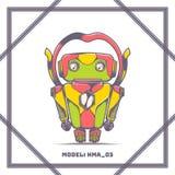 Roboter vorbildliches Number HMA 03 Stockbild